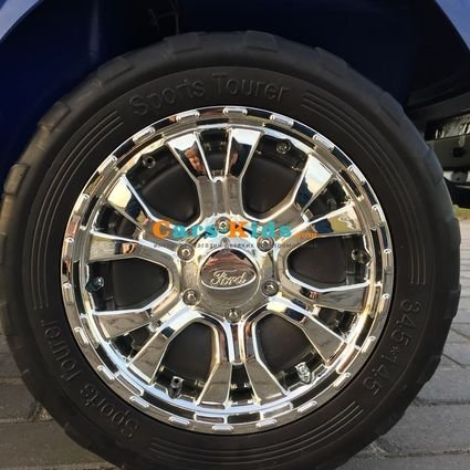 Электромобиль Ford Ranger F650 4WD MP4 синий (2х местный, сенсорная медиа панель, резина, кожа, пульт)