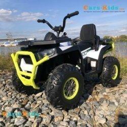 Электроквадроцикл XMX607 Т007МР белый (задний привод, колеса резина, кресло кожа, пульт, музыка)